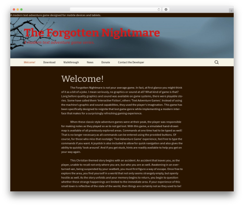 r2d2 WordPress template free download - theforgottennightmare.com