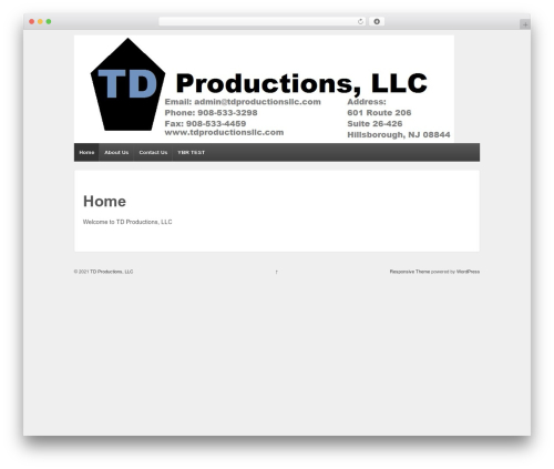 Responsive free WordPress theme - tdproductionsllc.com