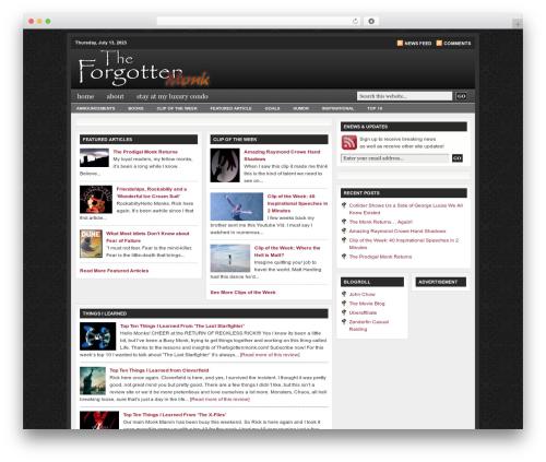Revolution Church template WordPress - theforgottenmonk.com