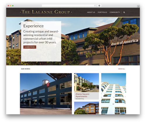 Sympathique real estate WordPress theme - thelalannegroup.com
