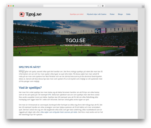 Tannistha WordPress theme free download - tgoj.se