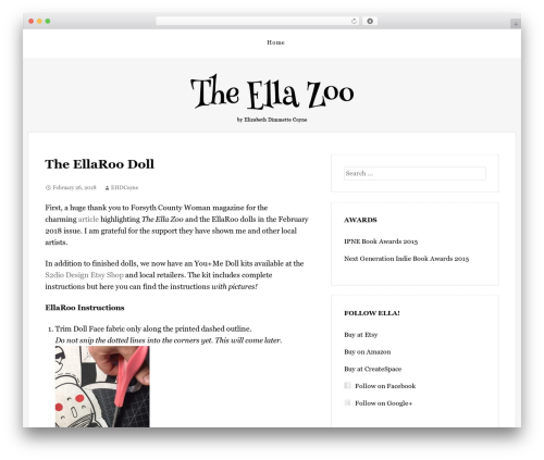 The Thinker Theme WordPress theme - theellazoo.com