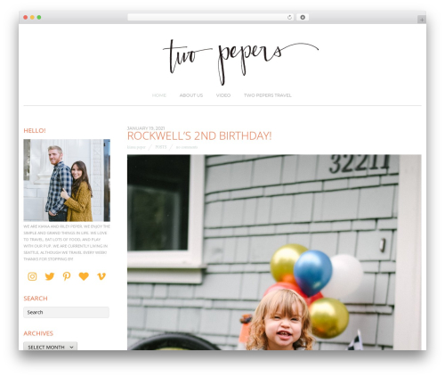 Themify Base theme WordPress - twopepers.com