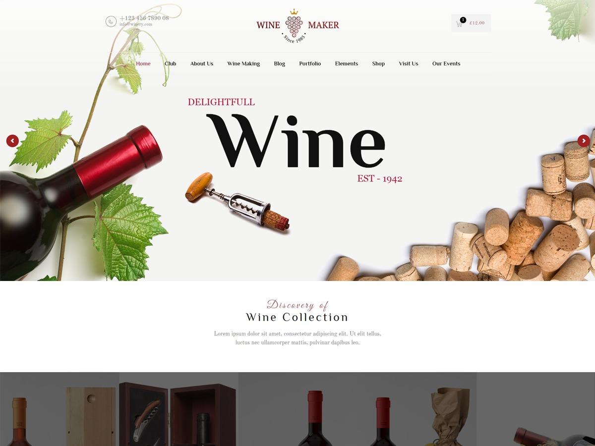 WineMaker business WordPress theme