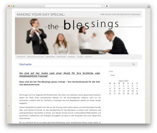 WordPress template picolight - theblessings.at