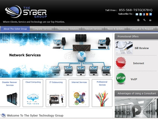 WordPress template The_syber_Group