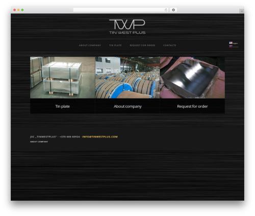 WordPress theme Baltimore - tinwestplus.com