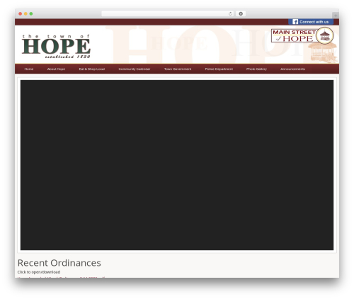 WordPress theme City Government - townofhope.org