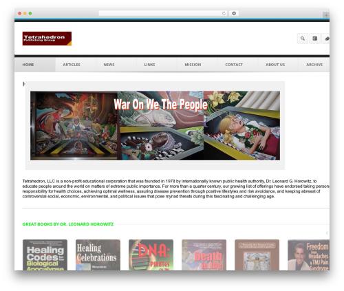 WordPress website template Output | Responsive Multi-Purpose WP Theme - tetrahedron.org