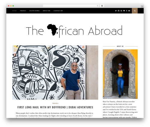 WP template Florence - theafricanabroad.com