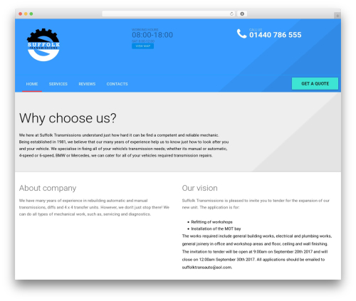 autorepair WordPress template - suffolktransmission.com