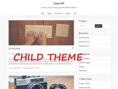 Base-wp Child best WordPress theme