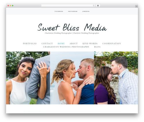 Carbis best wedding WordPress theme - sweetblissmedia.com