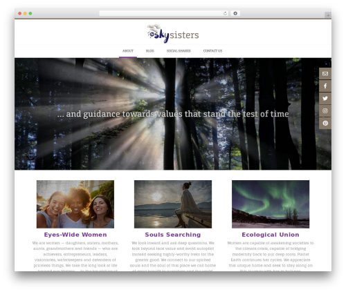 Conica free WordPress theme - theskysisters.com