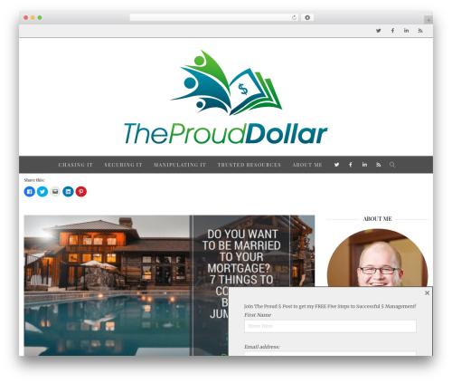 Creativo Theme WordPress theme design - theprouddollar.com