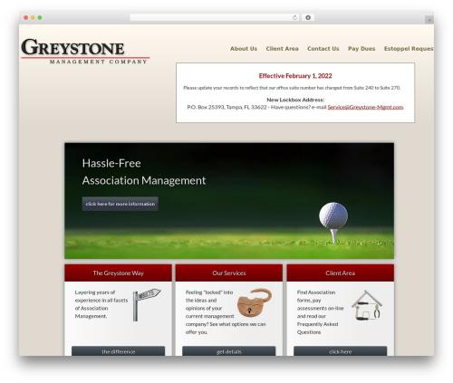 Greystone business WordPress theme - greystonefl.com