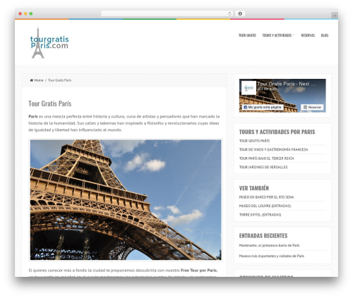 LiveBlog free website theme - tourgratisparis.com