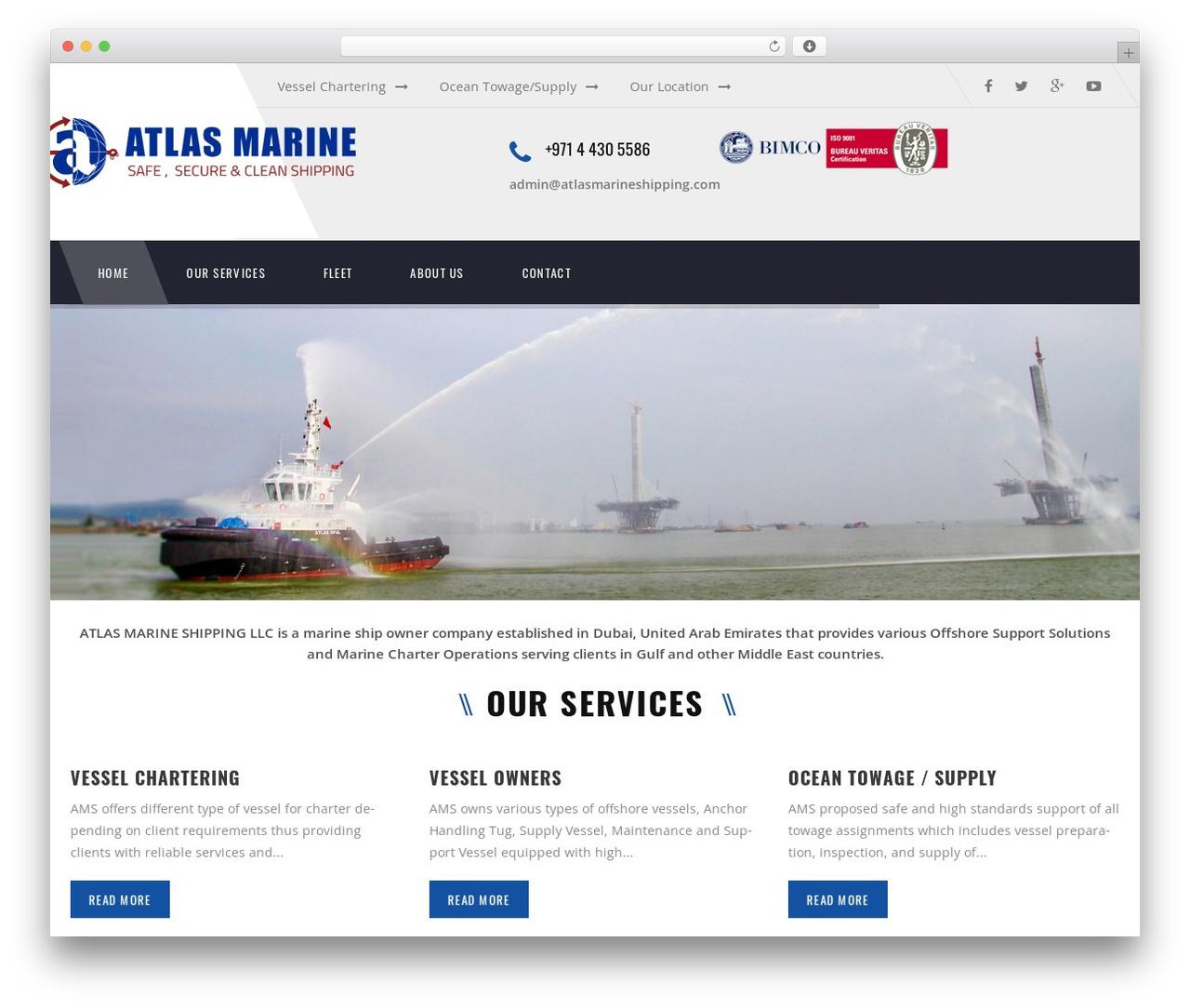 Theme WordPress Transport - atlasmarineshipping.com