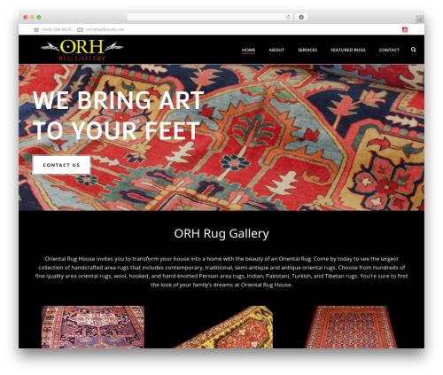 WordPress website template Jupiter - orhruggallery.com