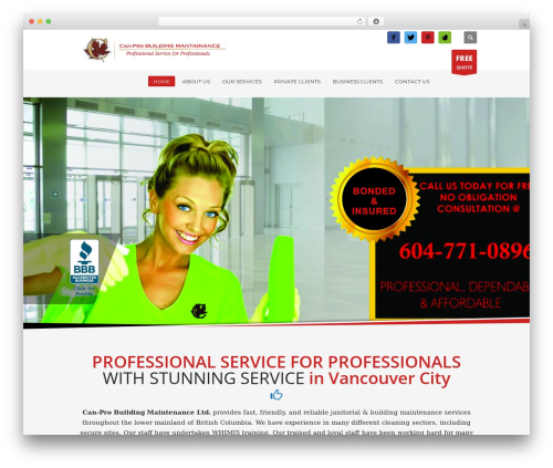 WP template Kallyas - canprocleaningservices.com