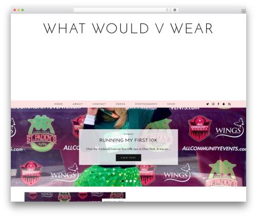 Equinox (pipdig) best WordPress template - whatwouldvwear.com