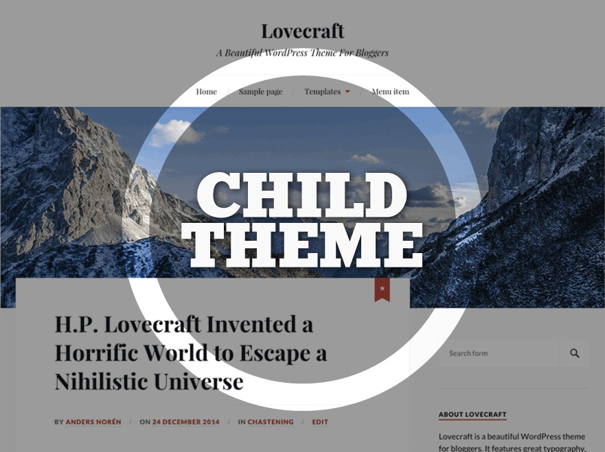 Lovecraft Child WordPress blog template