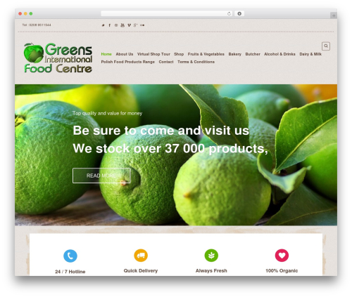 Organic Web Shop best WooCommerce theme - greensfoodcentre.com