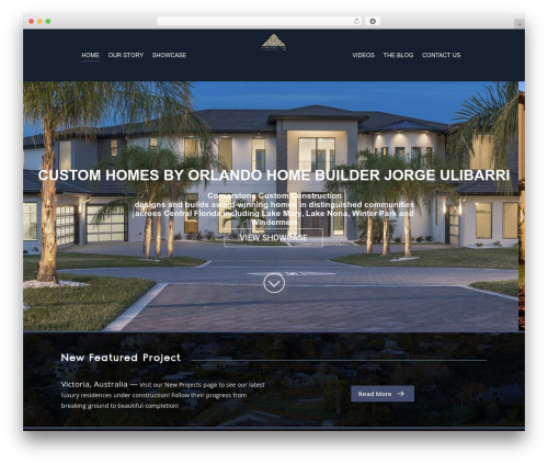Salient best real estate website - cornerstonecustomconstruction.com