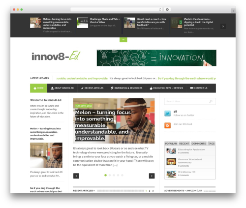 UrbanNews WordPress magazine theme - innov8-ed.com