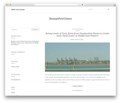 Activello template WordPress free - romanpetromen.com