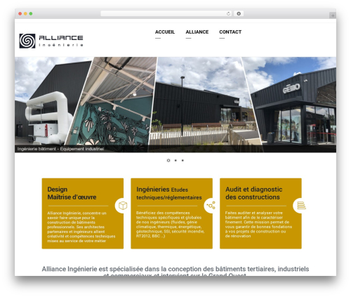 Arkitekt template WordPress - alliance-ai.com