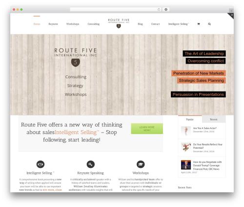 Avada WordPress theme - routefiveinc.com