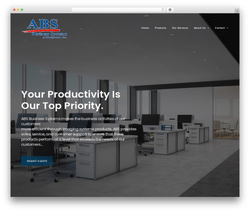 Revolution company WordPress theme - absmgm.com