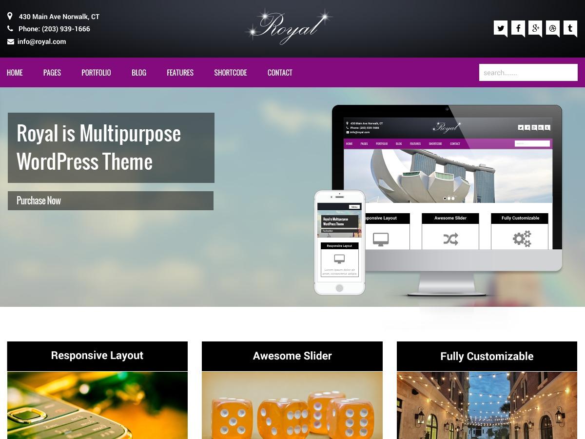 Royal business WordPress theme