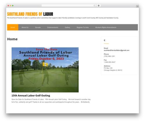 WordPress theme Maintenance Services - southlandfriendsoflabor.com