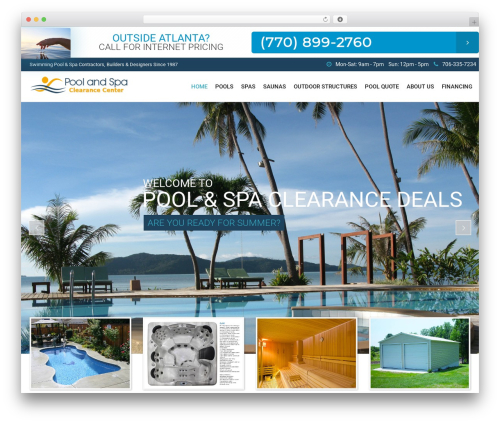 SwimmingPool best WordPress template - poolandspaclearancedeals.com