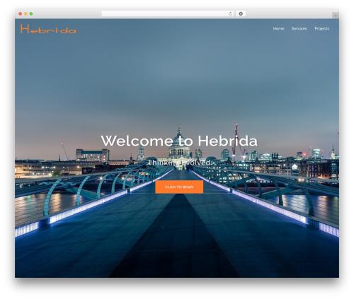 Sydney best free WordPress theme - hebrida.com