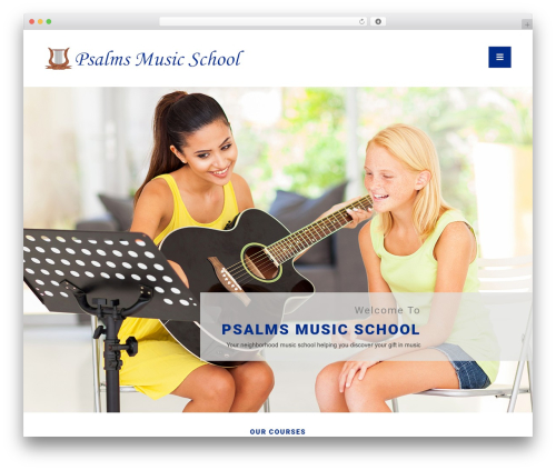 Best WordPress theme Mies - psalmsofmusic.com