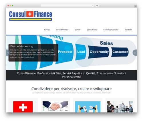 BusiProf Pro WordPress theme - consulfinance.com