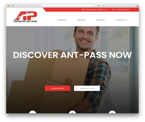 Logistix WP theme - ant-pass.com