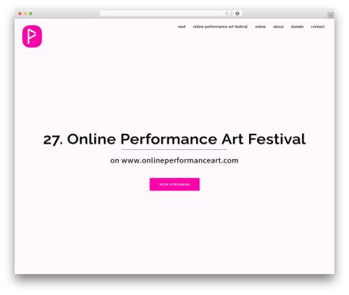 Sydney theme WordPress free - onlineperformanceart.com
