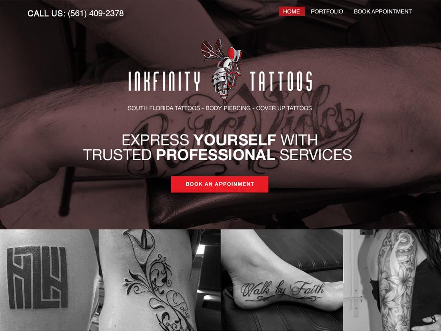Tattoo Child WordPress page template