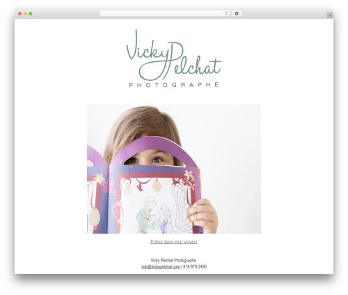 BLANK Theme premium WordPress theme - vickypelchat.com