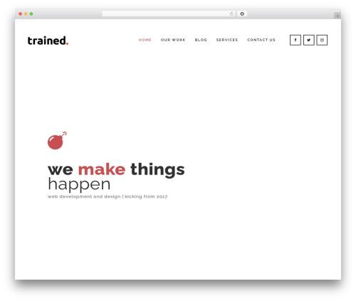 Bridge WordPress template for business - trainedpixels.com
