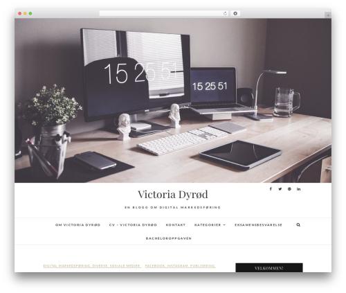 Edge free WordPress theme - victoriadyrod.com