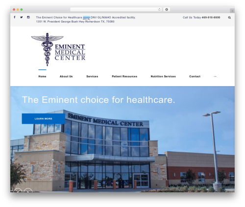 Bookgroup medical WordPress theme - eminentmedicalcenter.com