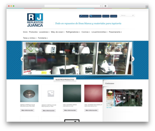 Boutique best free WordPress theme - repuestosjuanca.com