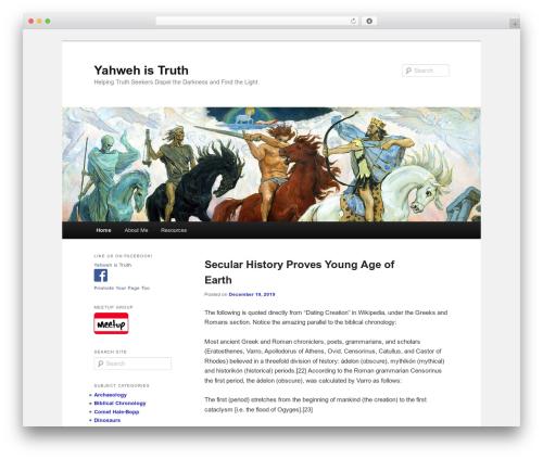 Theme WordPress Twenty Eleven - yahwehistruth.com