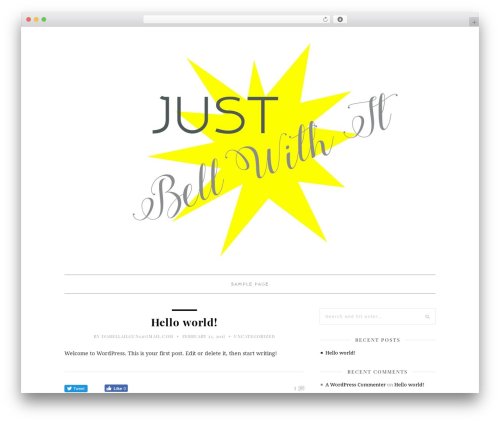 30 Day Blog Challenge WordPress website template - bellwithit.com