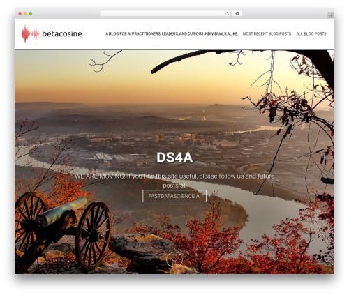 AccessPress Parallax best WordPress template - betacosine.com